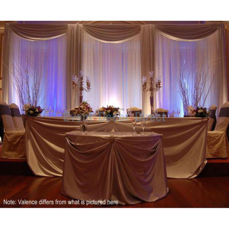 Diy Led Uplighting Rental Atlanta: DELUXE 3 Panel Wedding Backdrop