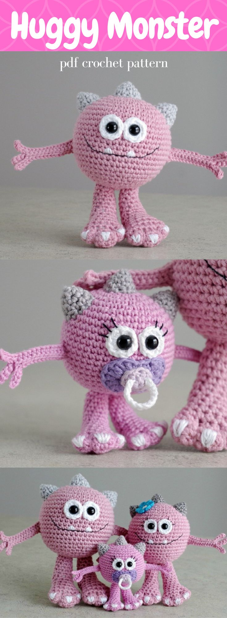 5495 best amigurumi images on pinterest amigurumi patterns cute monster family fandeluxe Image collections