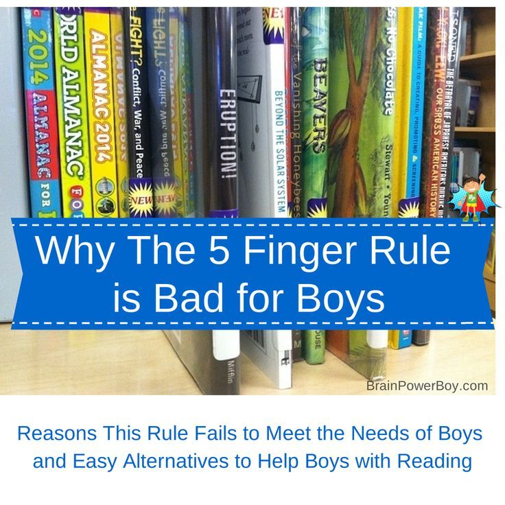 The Five Finger Rule and Why it is Bad for Boys.
