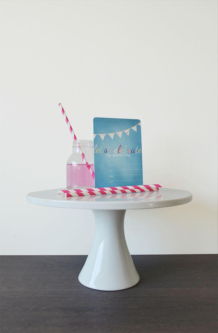 Birthday invitation • Little Hearts Collection http://etsy.com/shop/celebratink