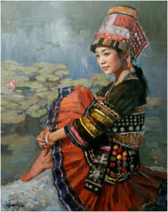1000+ images about Miao/Hmong People on Pinterest | Hmong ... Miao People Art