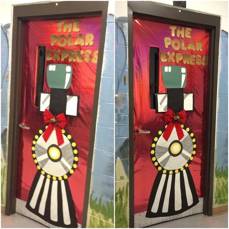 Polar Express classroom door for Christmas..
