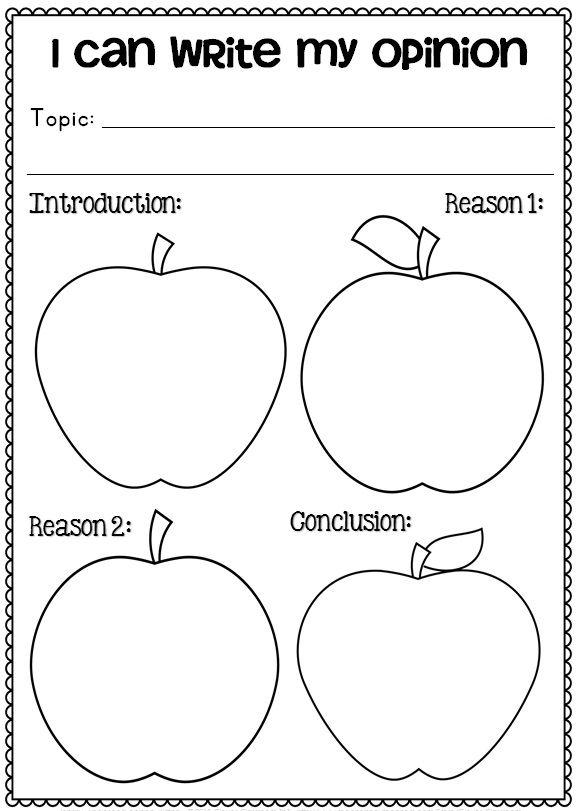 1st grade opinion writing activities