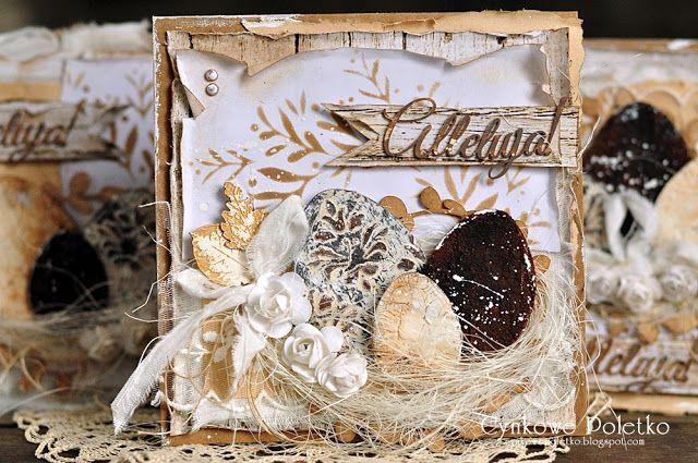 cynkowe poletko: Rustykalna Wielkanoc