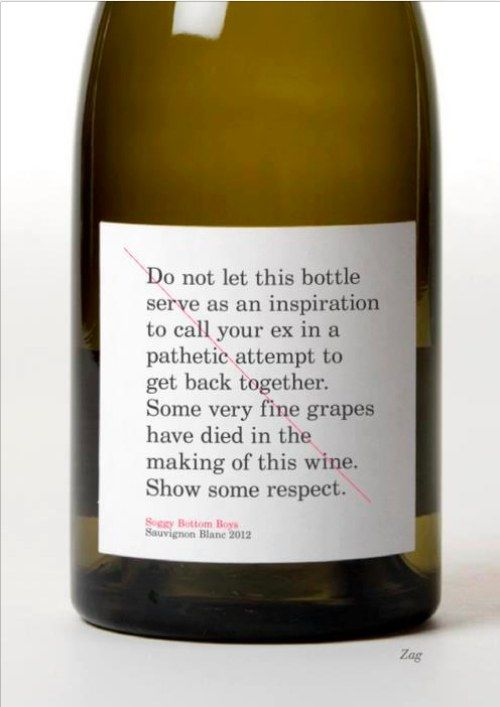 ❤ it!: Laughing, Bottle Labels, Quotes, Wine Labels, Funny Stuff, Wine Bottle, Funny Wine, Drinks, Respect