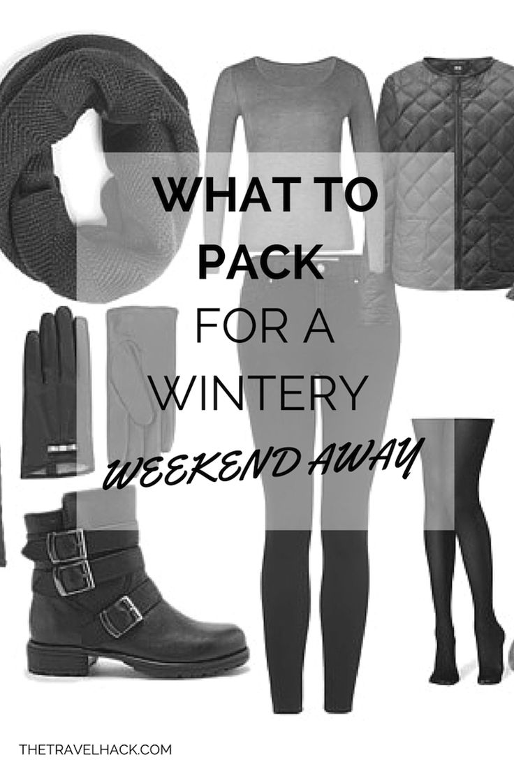 What to pack for a wintery weekend away