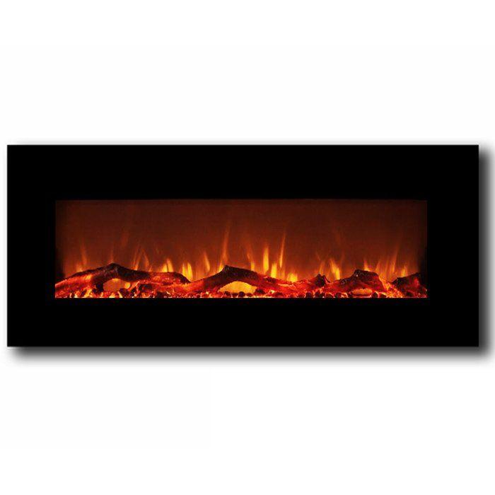 Krish Wall Mounted Electric Fireplace Wall Mounted Fireplace