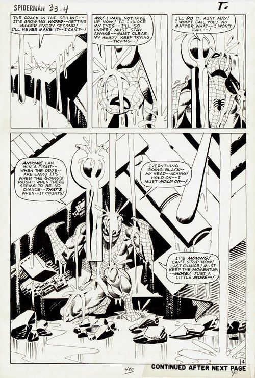 Page 4 of AMAZING SPIDER-MAN #33 by Steve Ditko.  If I could have/afford one piece of original art...This One!
