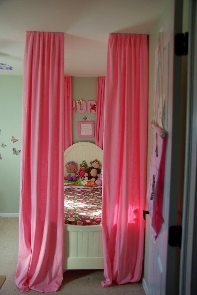 17 Best ideas about Pink Bedroom Curtains