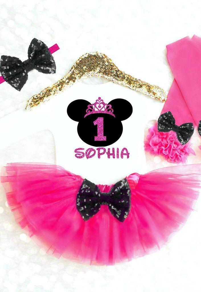 43c9202c5 Minnie Mouse Birthday Outfit ANY AGE! Perfect for a Pink and Black Minnie  Mouse Party or choose any other colors! #minniemousebirthday  #minniemouseoutfit # ...