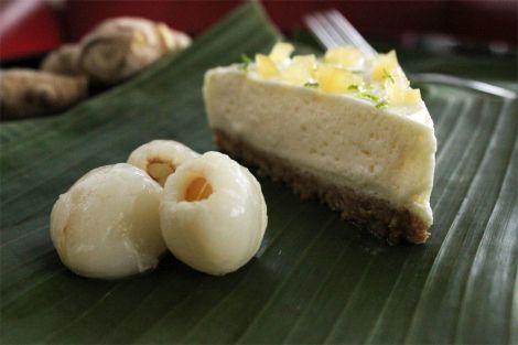 Cheesecake with lychees & preserved ginger // A Recipe For Gluttony Blog