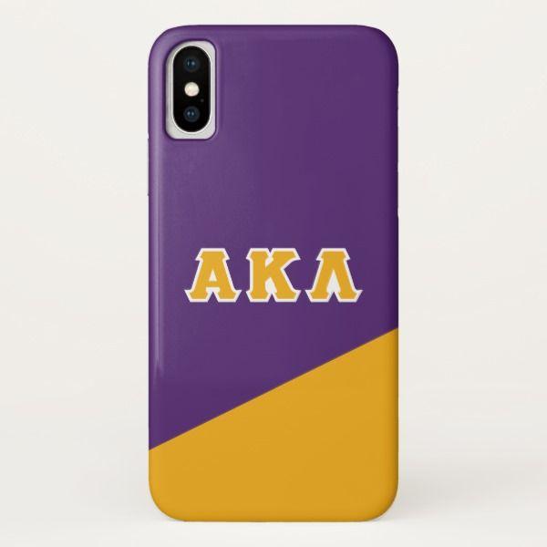 Alpha Kappa Lambda | Greek Letters iPhone X Case Custom Brandable Electronics Gifts for your buniness #electronics #logo #brand