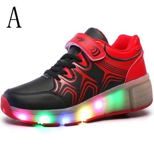 Leuchtende Schuhe Mit Rollen Kind Schwarze Für Mädchen