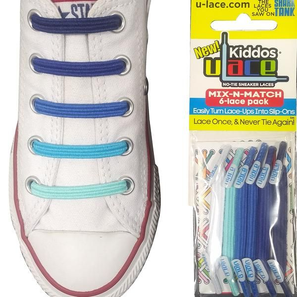 NEW! - U-Lace Kiddos Limited Edition Multi-Color Pack - Ice