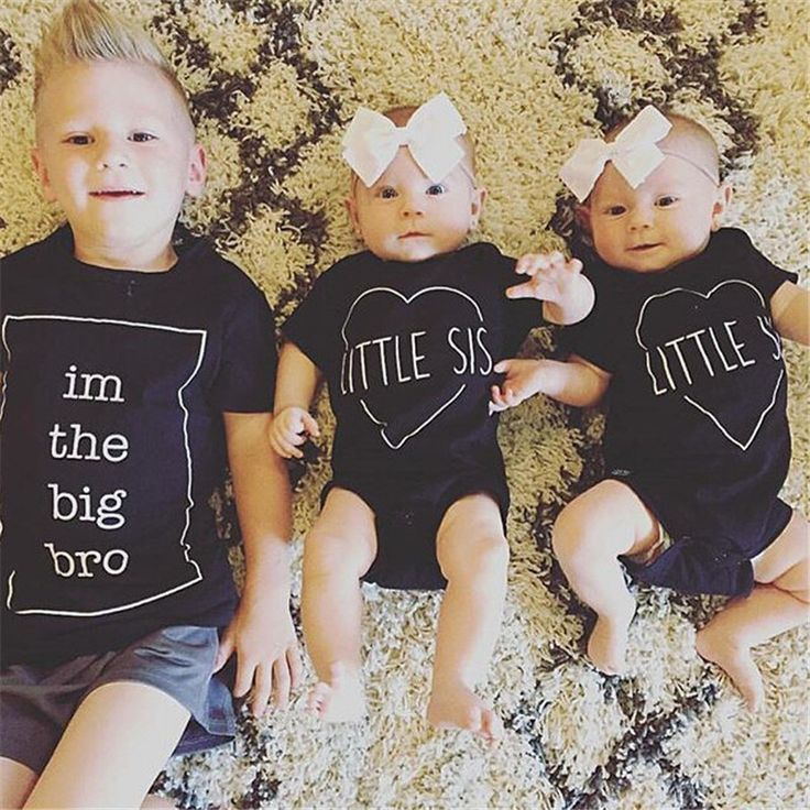 Little She is in Big Sister tees for Family Together