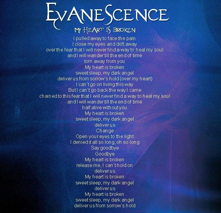 My Heart is broken #Evanescence