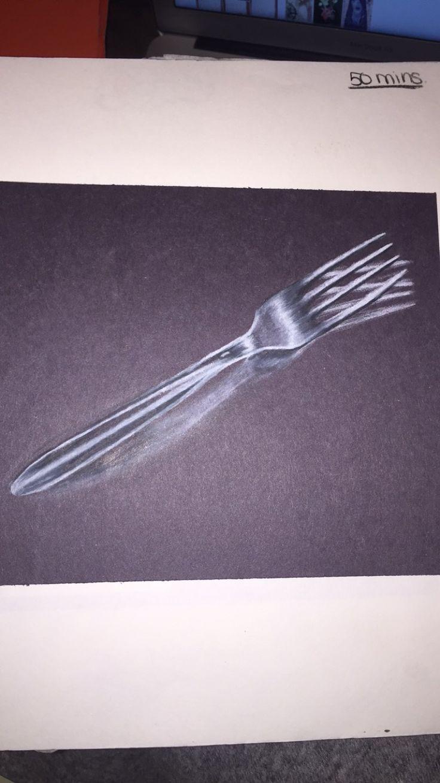 """""""Fork"""". Pencil crayon. 2016"""