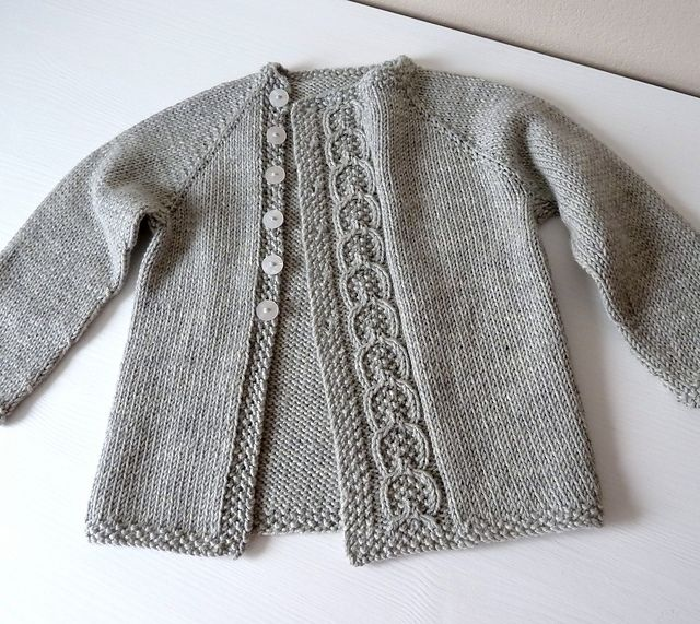 Ravelry: knittingant's project of Olive You Baby cardigan by Taiga Hilliard Designs  ~  10ply  FREE pattern download