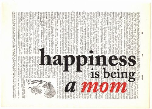 'Happiness Is Being a Mom' Art Print