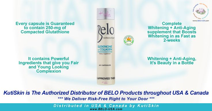 #Belo * #Nutraceuticals #Glutathione + #Collagen #Dietary #Supplement ( #HALAL ) -- BELO Products distributed by #KutiSkin in USA and Canada (https://www.KutiSkin.com)
