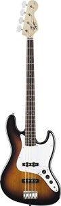 Fender Squier® Affinity Jazz Bass®, Brown Sunburst, Rosewood Fretboard