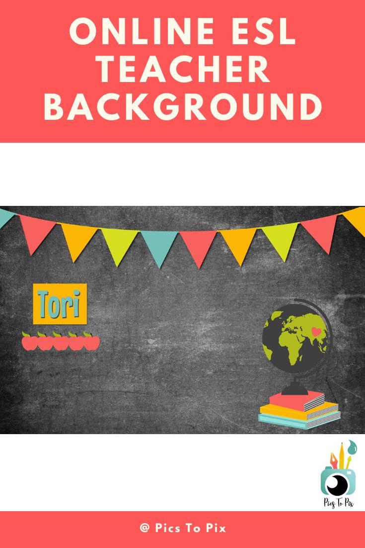 Vipkid Background, Gogokid backdrop, Custom sign, Teacher