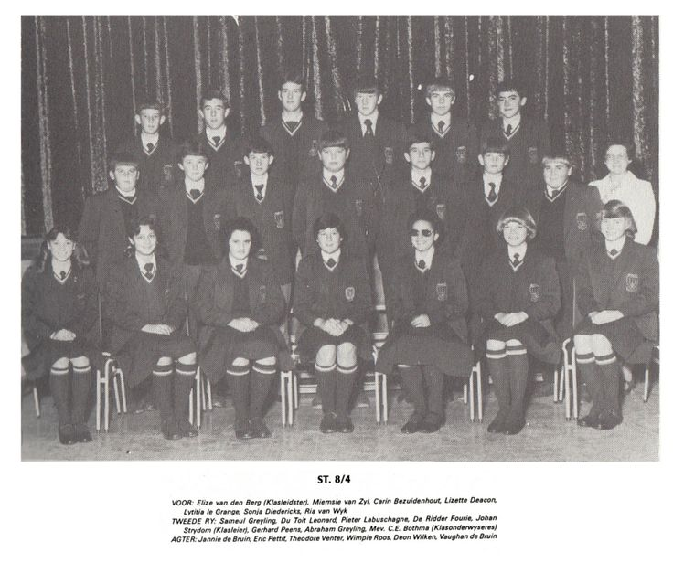 St. 8/4 Klasonderwyser Mev. C.E. Bothma #1980 #WesvaliaHistory