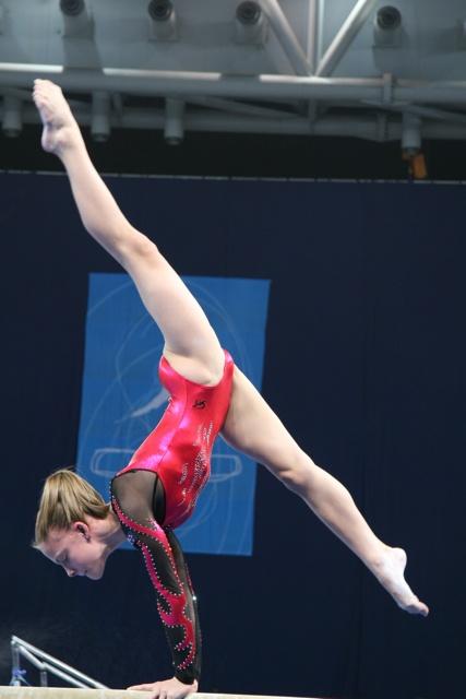 gymnast on balance beam grace form gymnastics kyfun m436 moved