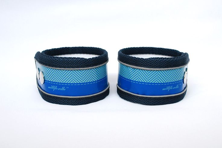 Millflorell TweedFlorell (Blue) reflective ankle straps