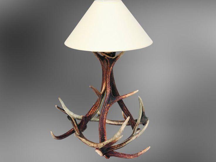Lampada corna di cervo, deer antler table lamp, bois de cerf abat-jour