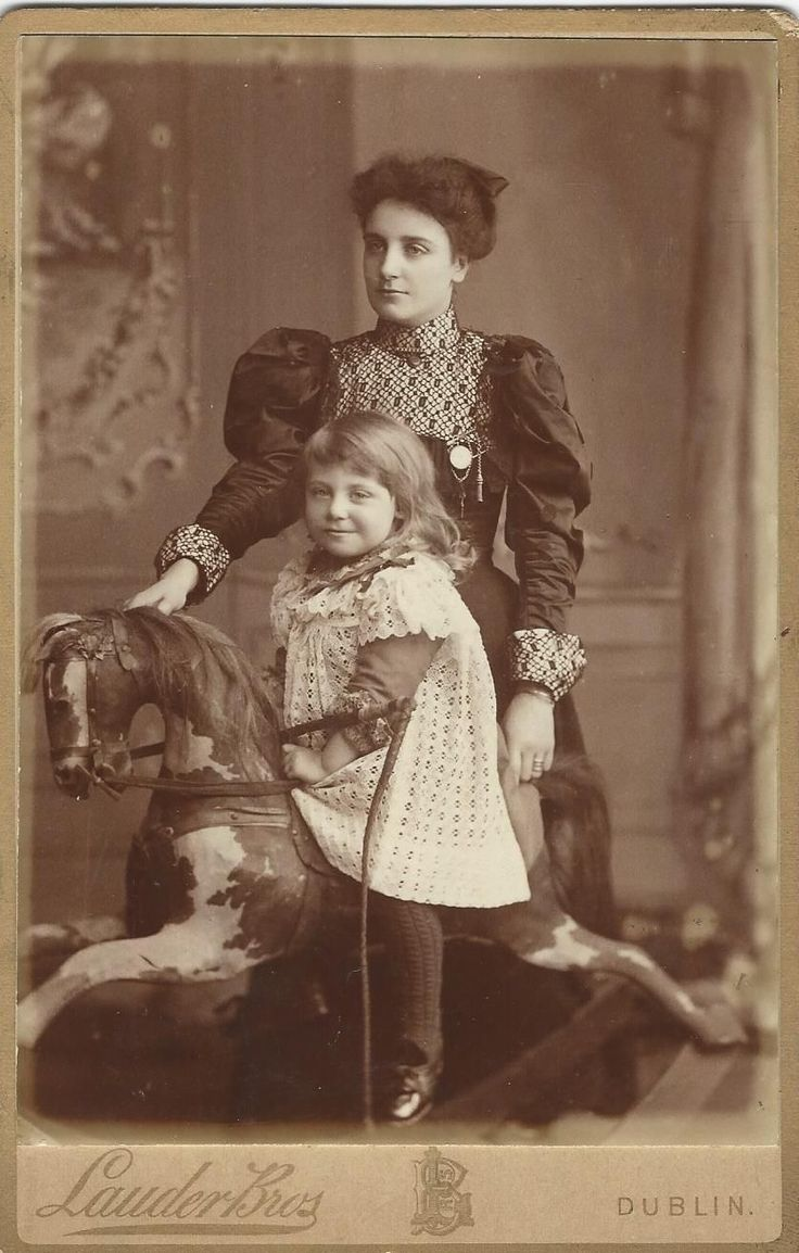 Studio CdV - Lauder Brothers, Dublin (little girl on a rocking horse)