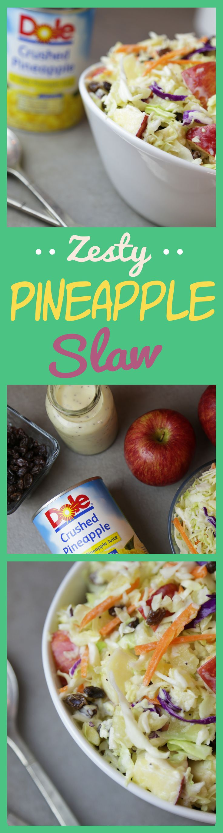 Creamy and tangy coleslaw with DOLE® Canned Pineapple makes a great side dish or addition to chicken or pork.