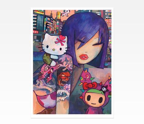 Hello Kitty Art Print by Simone Legno: Gal Pal