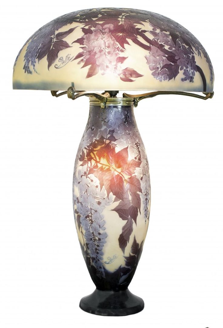 IMPORTANT EMILE GALLE CARVED CAMEO GLASS TABLE LAMP ㊙️More Like This At FOSTERGINGER @ Pinterest