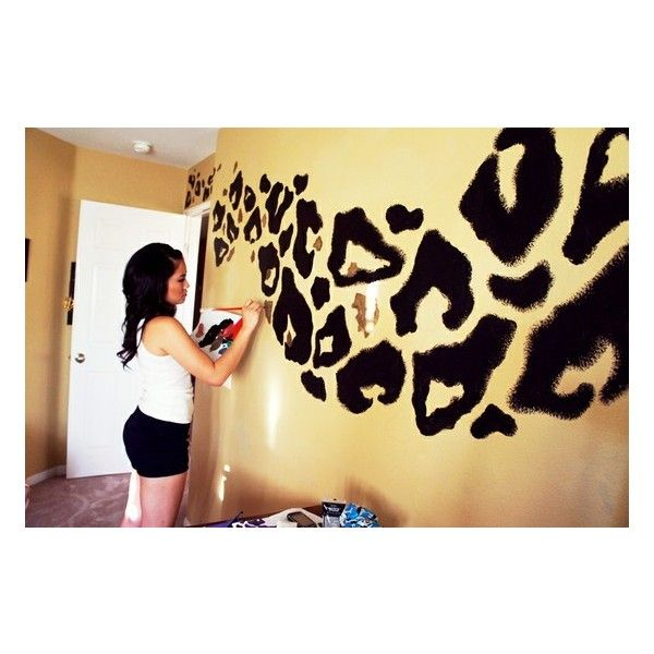 cool stuff! / Leopard Print Wall found on Polyvore