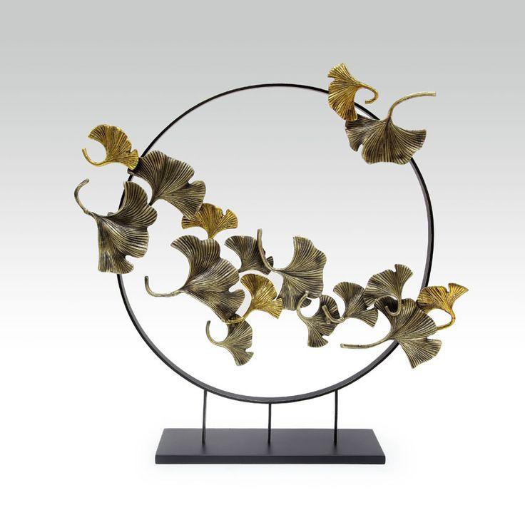 ceramic sculpture deco furniture branch bird 装饰  陶瓷 书法  摆件 屏风  鸟 透明 金属 GINGKO