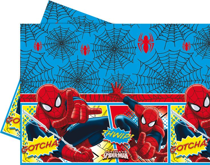 Plastiktischdecke Spiderman™ Comic