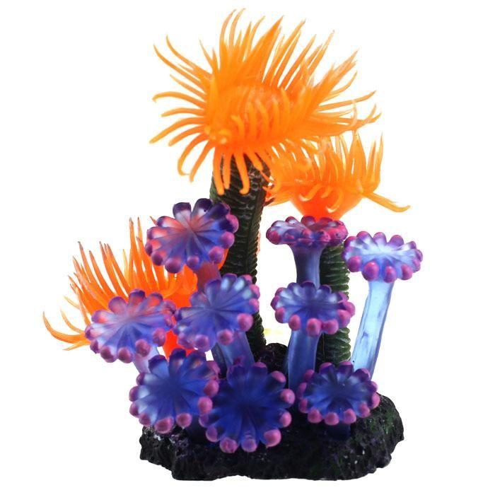 домашняя мода мягкой искусственной смолы коралловые рыбы танк энн