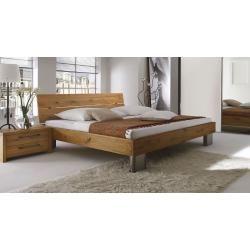 Doppelbett / Gästebett Kiefer massiv Vollholz weiß 77, inkl. Lattenrost – 180 x 200 cm (B x L) Stein