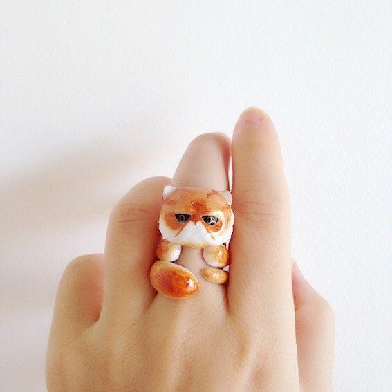 Persian Cat 3 Piece Ring Set - Enamel ring, Animals Ring, Animals Jewelry, Enamel Brass Jewelry, Trio Ring, Animal, Gift, Cute, Mary Lou by MaryLouBangkok on Etsy https://www.etsy.com/listing/251971054/persian-cat-3-piece-ring-set-enamel-ring