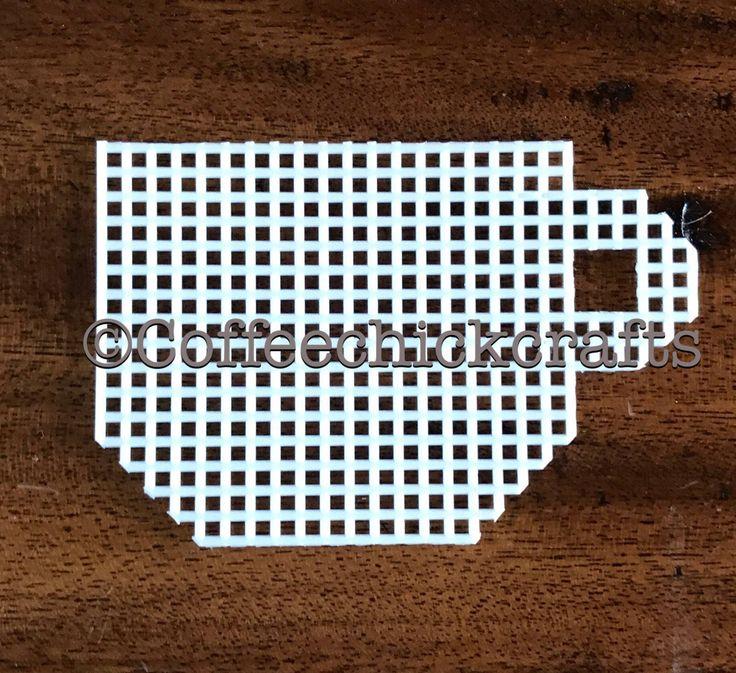 Plastic Canvas tea cup mug cut out https://www.etsy.com/listing/535488307/cup-plastic-canvas-tea-cup-cut-out