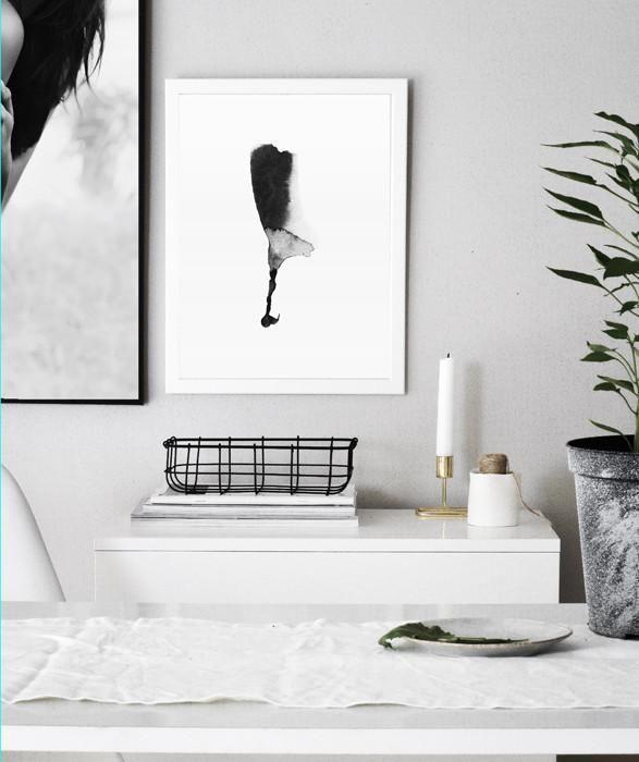 Black Minimalism | Minimalist Art Print for Scandinavian Interior black painting