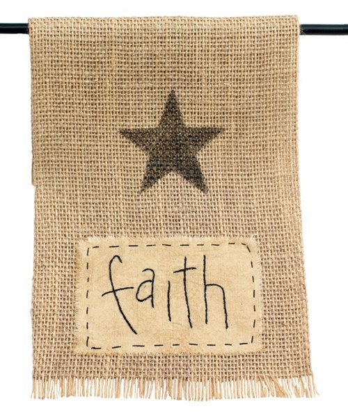 Look at this 'Faith' Burlap Oven Hanger on #zulily today!