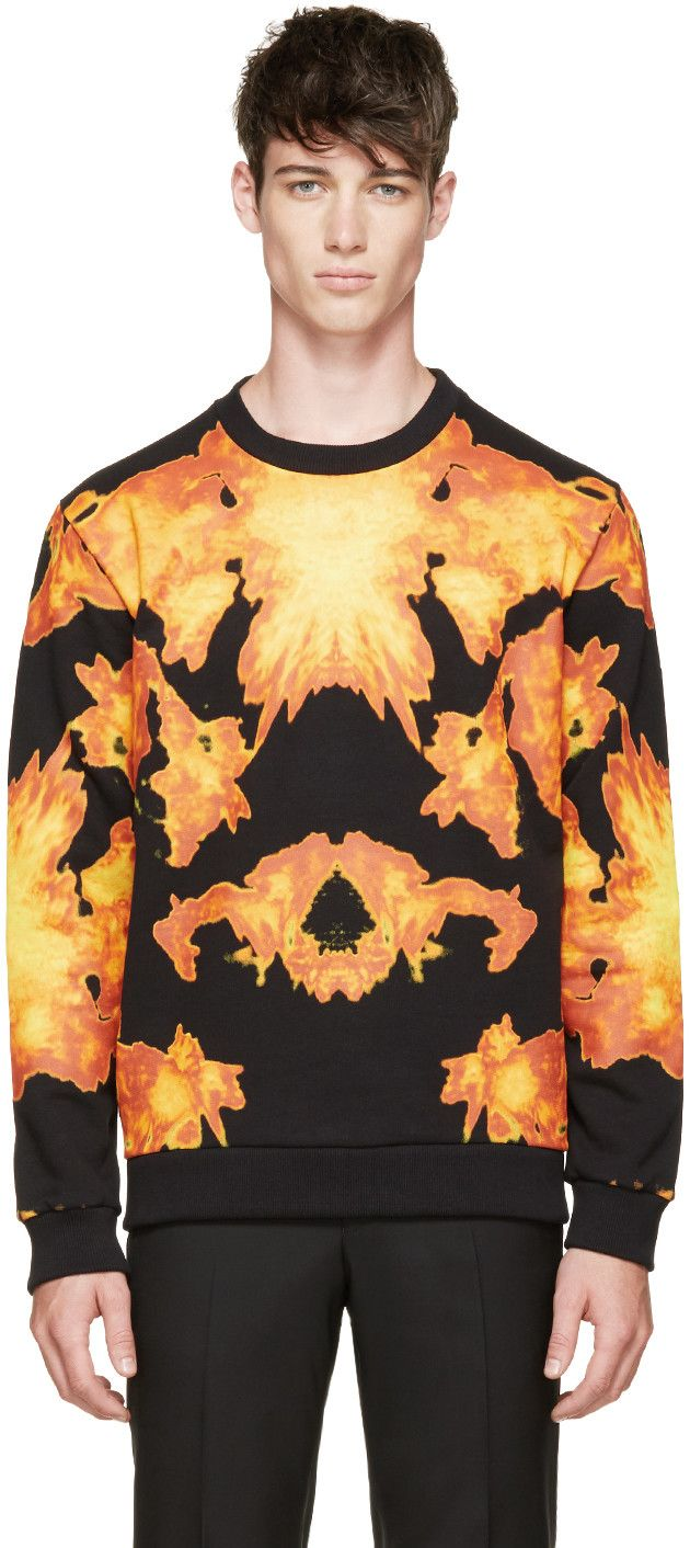 Givenchy - Black Flame Print Sweatshirt
