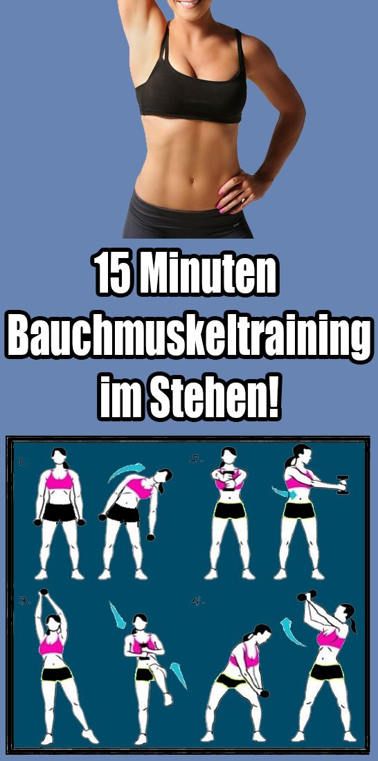 15 Minuten Bauchmuskelt training im Stehen!