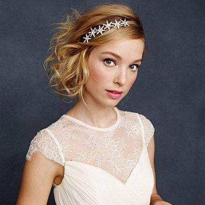 omg can i please make you a starfish headpiece like this?! haha love it! J.Crew - Jennifer Behr Estee circlet