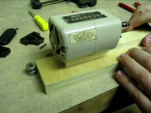 Micro Wood-Lathe: How to make it with a SEWING MACHINE MOTOR - YouTube