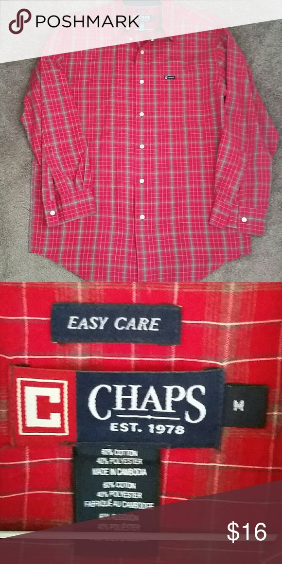 Ralph Lauren Chaps Shirt Chaps by Ralph Lauren. Man's size M, excellent used condition. Chaps Shirts Casual Button Down Shirts