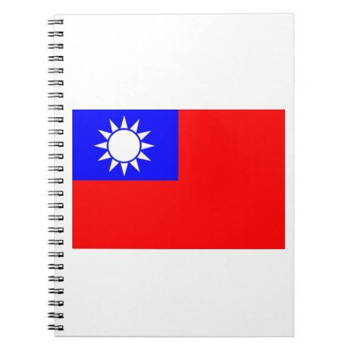 Flag Of Taiwan Notebook Taiwan Flag Personalized Custom Notebook