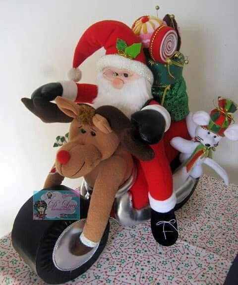 Santa en moto..